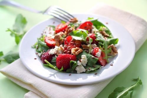Groene salade met feta en munt