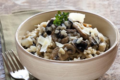 Risotto met champignons en tijm