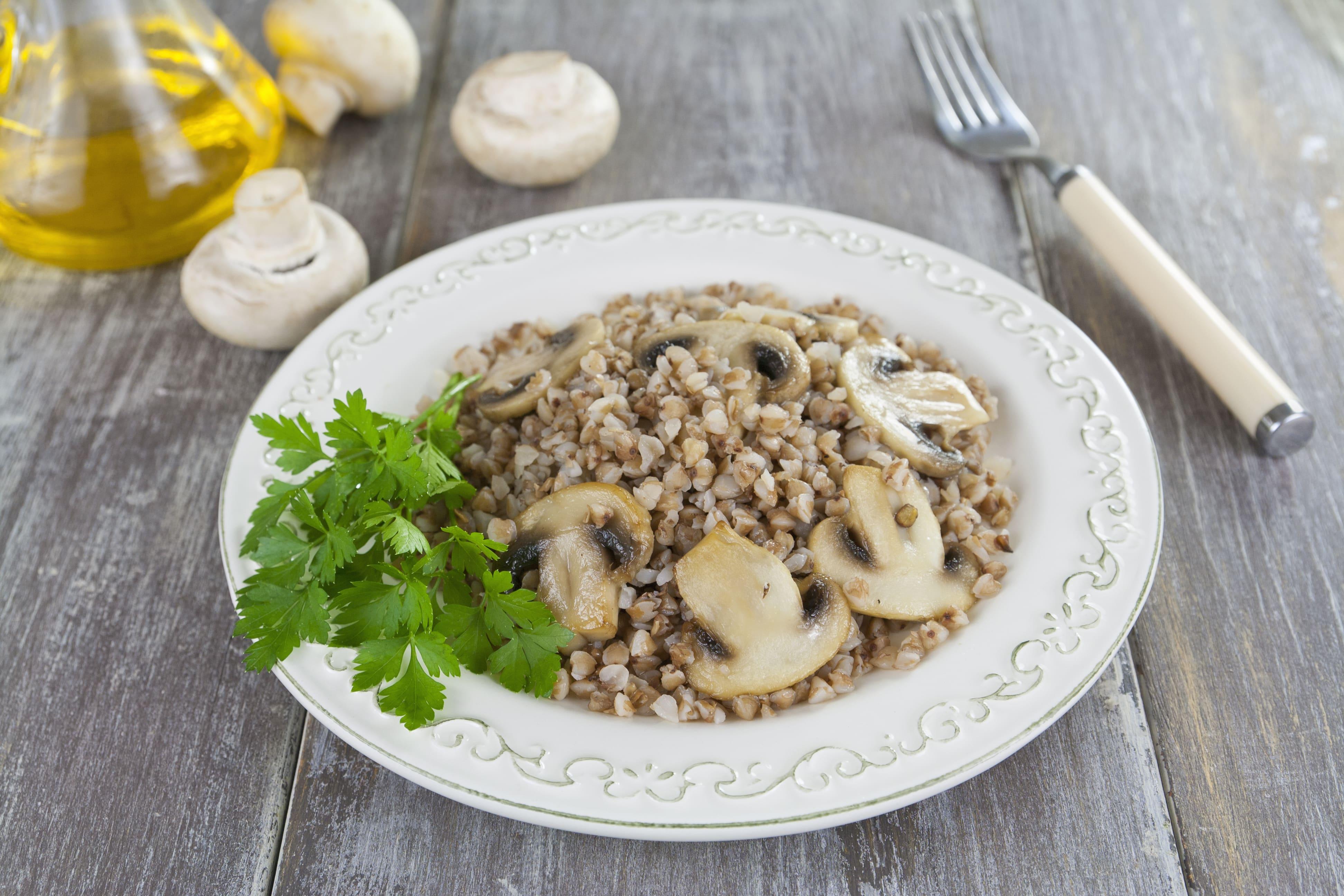 Zilvervlies risotto met champignons