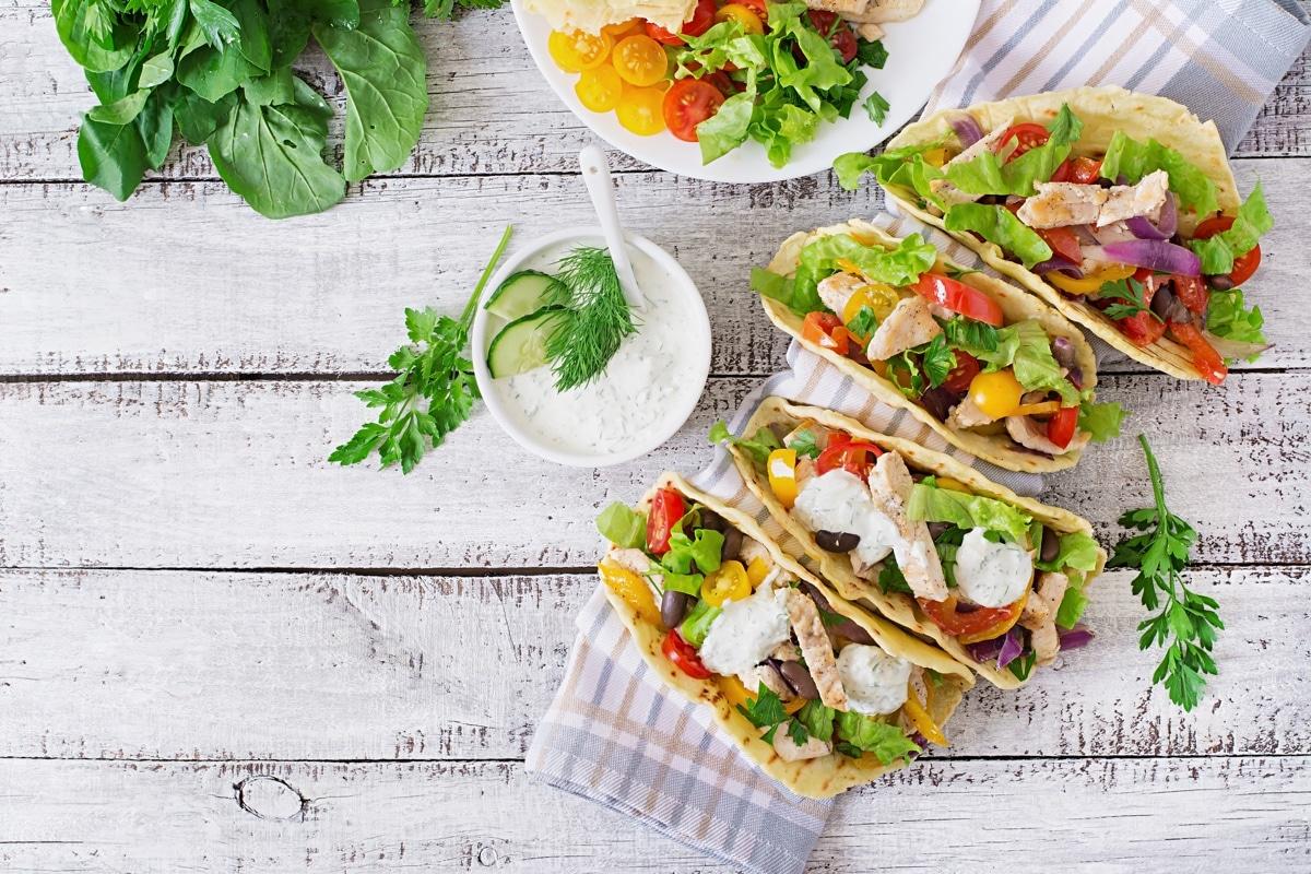 Mexicaanse taco's met kip